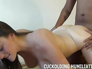You will watch me get my fill of big black cock