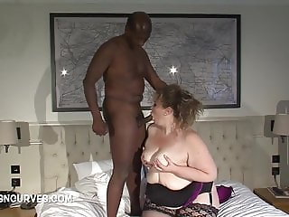 Sammy takes a BBC while hubby watches