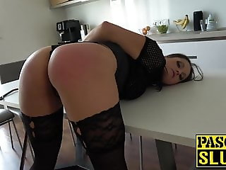 Submissive Barbara Bieber endures hardcore spanking and fuck