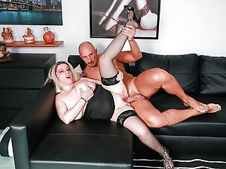 Chubby Italian Blonde gets her ass destroyed