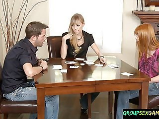 Redhead amateur riding cock during sexgame
