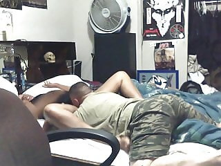 friend on waterbed first time