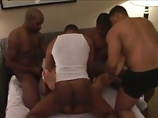 Wife gets fucked by a hord of blacks...!!!!