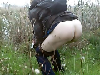 Pissing near the pond