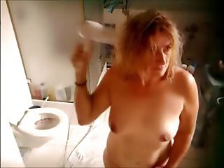 blond mature at shower