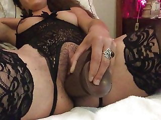 my young slut dildo training before fuck with hubby
