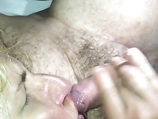 My slut wife facialized while moaning and fingering