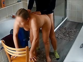 My wife fucked after morning run on hidden cam