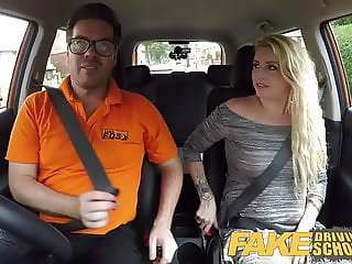 Fake Driving School British cheating blonde loula lou slurps