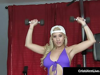 Horny Young Cristi Ann Works Her Pussy Out With A Dildo!