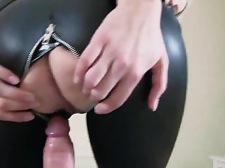 My Step Mom in Latex Likes when I Fuck Her Pussy