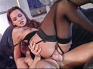 Madalina Ray Black Stockings Hard Fucking On Sofa