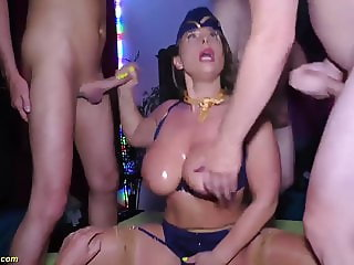 busty stewardess sexy susi rough anal party fucked