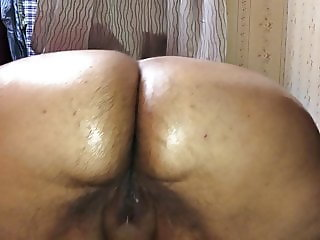 Sexy furry GF shows off her hindquarters and pussy