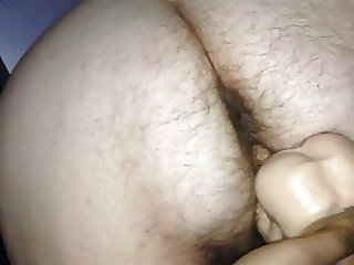 Very Hairy BBW gets Fucked with big toy