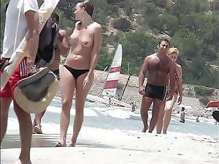 Ibiza topless beach walk