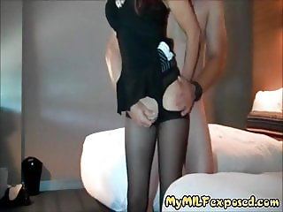 My MILF Exposed Stockings wife has ass and pussy filled