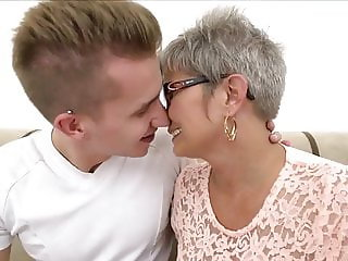 Grey haired Granny takes cock and facial