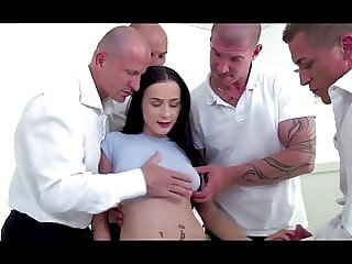 Bratty daughter dp gangbanged by dad and all his friends