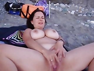 Viky Love on the beach
