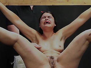 Screaming little slut whipped