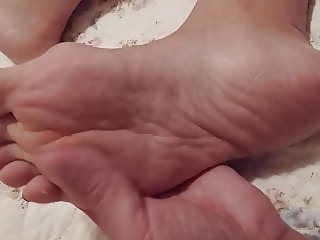 cum on my chinese wife feet