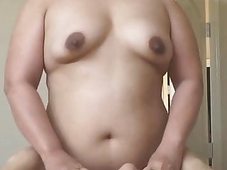 Chubby Asian Wife Riding the Cock Fucking Hard