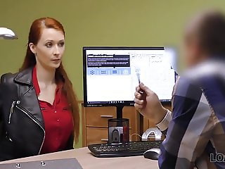 LOAN4K. Agent screws busty redhead because she really...