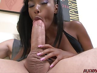 Ebony Babe Bella Takes the Giant Cock of Whitezilla