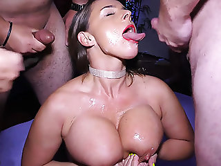 busty flexi milf rough anal group banged