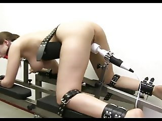 Bench Bondage And Forced Orgasm