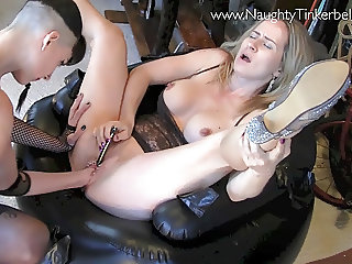 Naughty Tinkerbell gets extreme masturbation pussy fisting