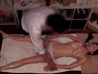 Japanese Wife Gets Sexual Massage While Husband Waits Hidden