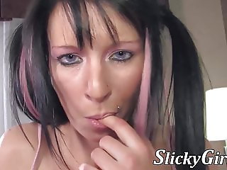 Real French amateur toying her tight ass and sweet pussy