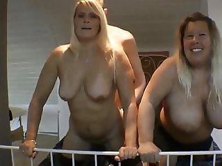 Horny MILF and Naughty Busty BBW Sharing One Young Boy