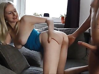 Unexpected Painful Anal Sex with Naughty Amateur Blonde
