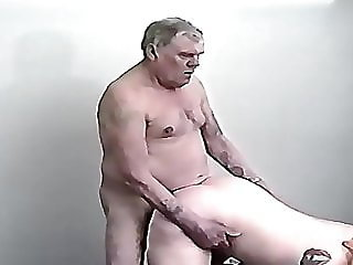 ORGIE GRANDPA AND BLONDE GIRLS BING TITS