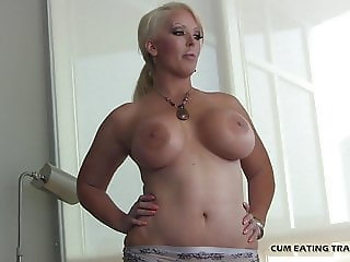 Lick your cum off my big tits CEI