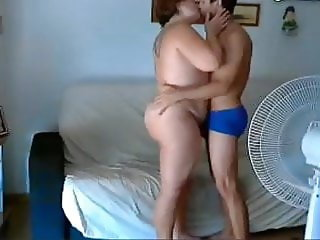 Young Spanish boy fucking his MILF neighbor