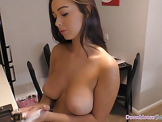 Hot brunette babes with beautiful natural tits