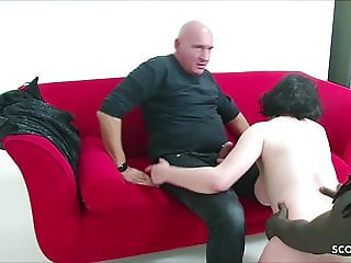 German old Couple Book Huge Cock Black Callboy to Fuck 3some