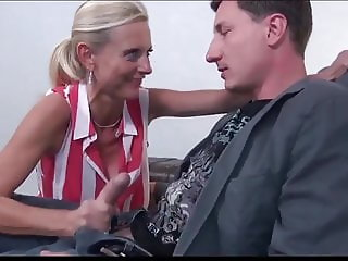 Delightful Mature MILF With New Business Partner on Holidays