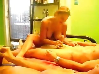 Real Homemade cuckold husband sharing wife with friend