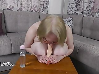 Wouldn't you like that dildo to be your cock!!!