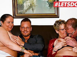LETSDOEIT - Amazing First Foursome Sex with Horny Grannies
