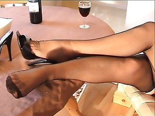 Isobel the Lazy Maid in Fully Fashioned Nylons