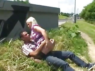 Horny Blonde MILF Takes Cum In Mouth with Random Tourist