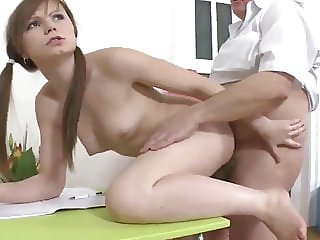Fat Owner of an Apartment with Small Cock Fucks Petite Teen
