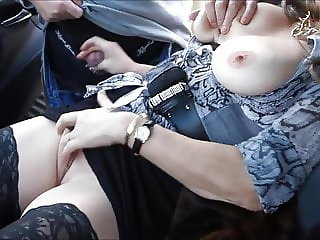 Horny German wife as a street worker for dirty sex games