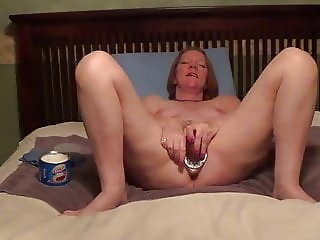 PR's Painful Vaginal Dildo Insertion - Ouch - Surprise
